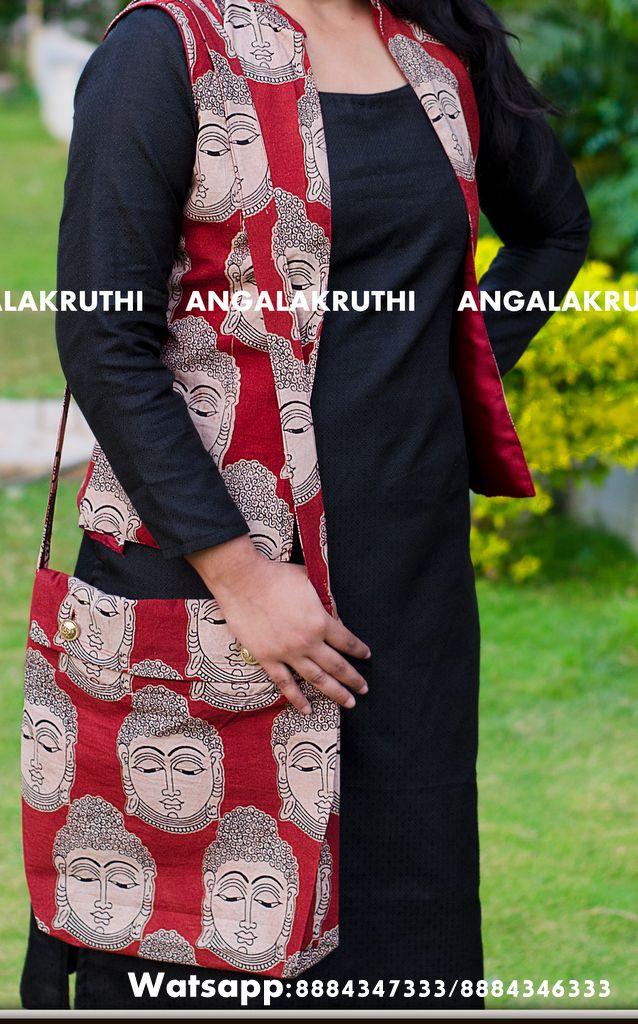 # Kalamkari cotton custom designer bags by Angalakruthi #Custom designer BAGS by Angalakruthi # 100 % eco fiendly bags by Angalakruthi  #Pure Kalamkari fabric bags #Tote bags custom designed