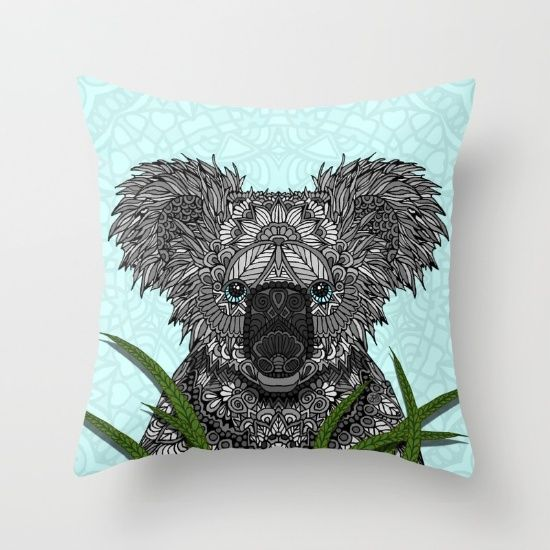 Buy Koala Throw Pillow by ArtLovePassion. Worldwide shipping available at Society6.com. Just one of millions of high quality products available.