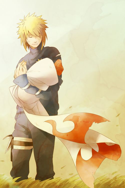 Please tell me Minato did not just wrap Naruto in his coat. * Die of Cuteness fever*