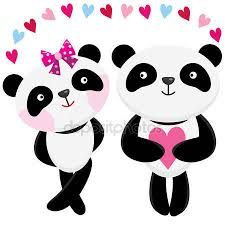 Resultado de imagen para dibujos de osos panda con corazones