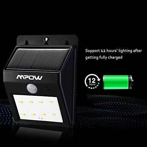 [4*PACK] 8 LED eclairage exterieur imperméable, Mpow eclairage terrasse Sans Fil Détecteur de Mouvement avec Trois Modes Intelligents ,…