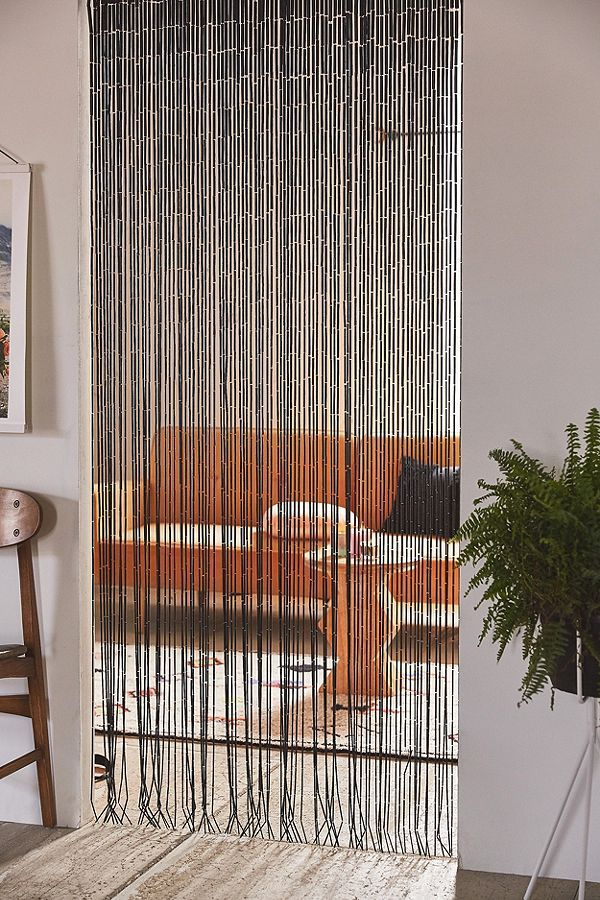 Bamboo Beaded Curtain With Images Bamboo Beaded Curtains
