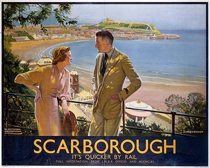 Staycation posters: 1930s & today