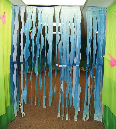 17 best images about vbs under the sea decorations on for Water decoration ideas