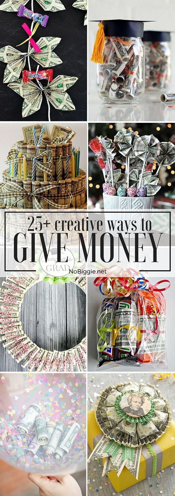 25+ Creative Ways to Give Money   NoBiggie.net