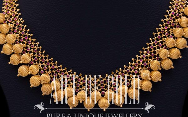 Designer Gold Beads Necklace