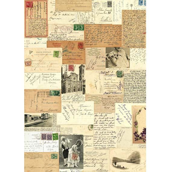 Vintage Postcards Collection  Digital Collage print  by Posterium, $20.00