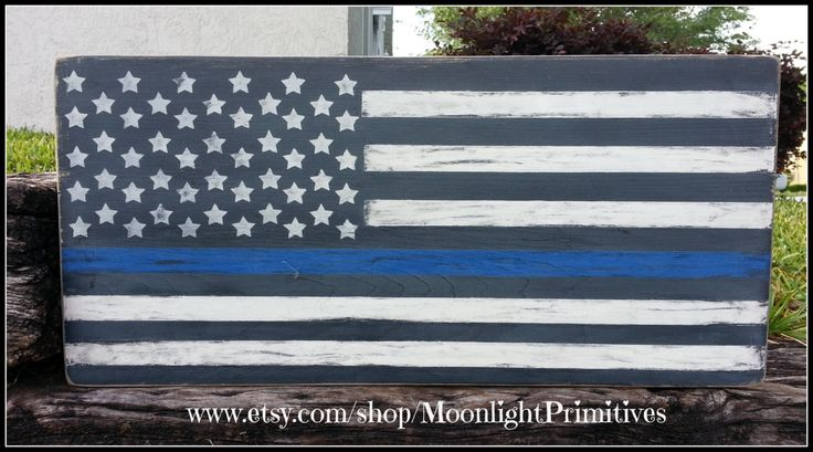 Distressed American Thin Blue Line Flag, Police, Thin Blue Line, Flag, LEO, Thin Blue Line, Law Enforcement, Flag, Distressed Signs by MoonlightPrimitives on Etsy
