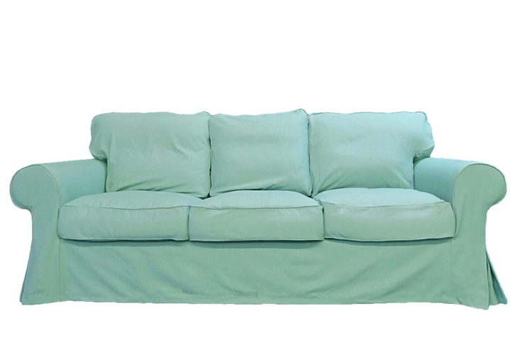 Ikea Ektorp Sofa Custom Slipcover In Sky Linen By Freshknesting Living Rooms