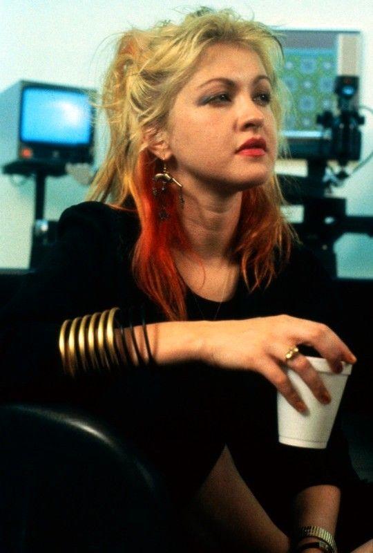 "vintagesalt: "" Cyndi Lauper photographed by Benno Friedman c. 1980s """