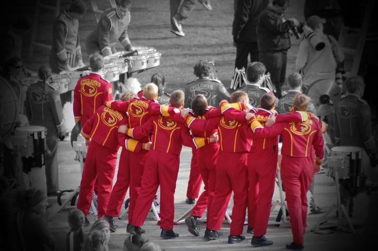 Iowa State University Cyclone Football 'Varsity' Marching Band.