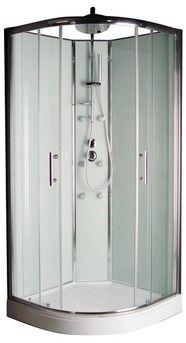 399 euros cabine douche 90cm easy hydromassage verre blanc - Brico Depot Cabine De Douche