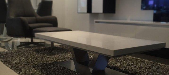 Venus Caesarstone Coffee Table in London Grey. Elegant, durable, affordable