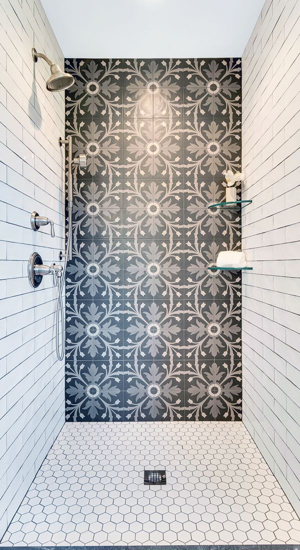 Bathroom Ideas Black And White Bathroom Shower Floor Tile Master Bathroom Shower Black And White Tiles Bathroom