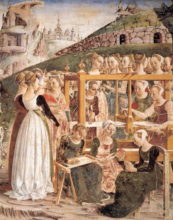 Allegory of March: Triumph of Minerva (detail)  Francesco del Cossa  1476-84