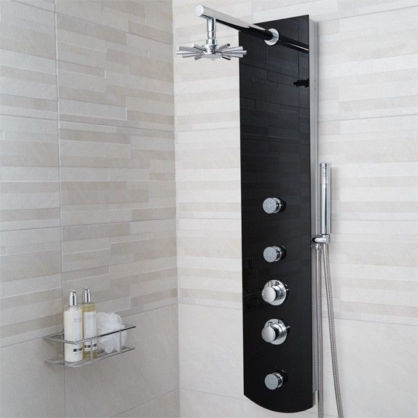Crystal Thermostatic Shower Panel Shower Enclosures And Cubicles Pinteres