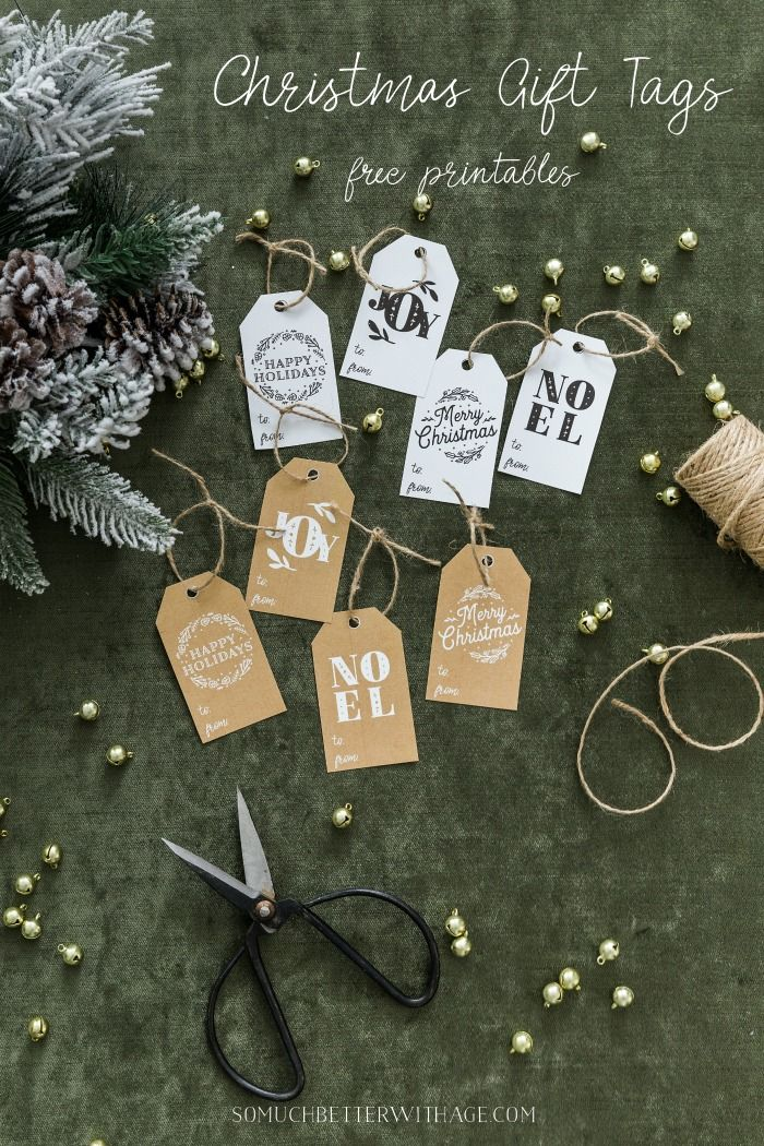 Christmas Gift Tag Printables | Winter/Christmas Decor | Pinterest ...