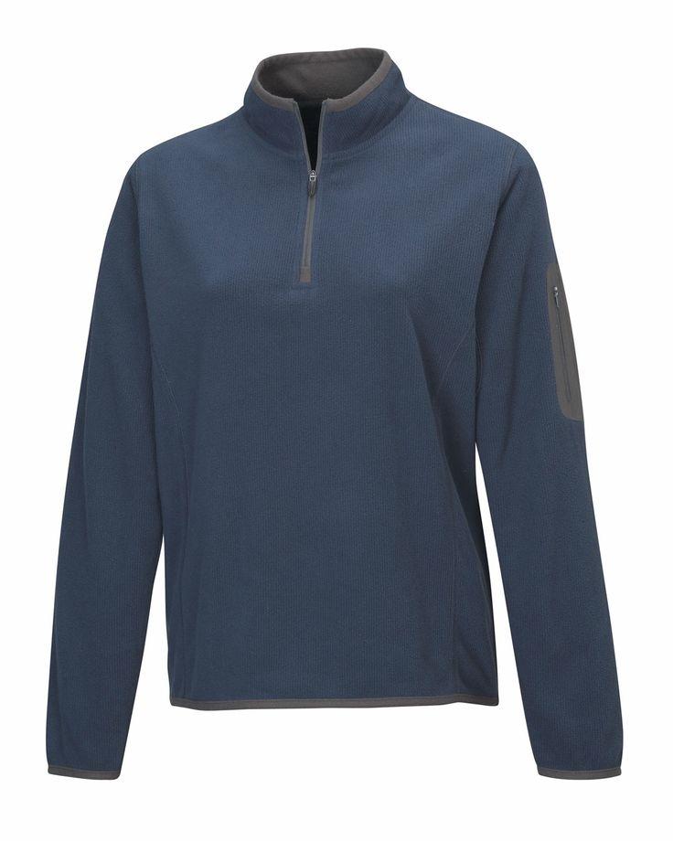 Women's Fleece 1/4 Zipper Pullover (100% Polyester). Tri mountain 7046 #iloveit  #casualwear #sporty #roughandtough
