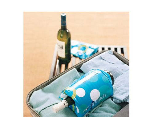 Use a child's floatie to protect a bottle of wine in your luggage. | 51 Insanely Easy Ways To Transform Your Everyday Things