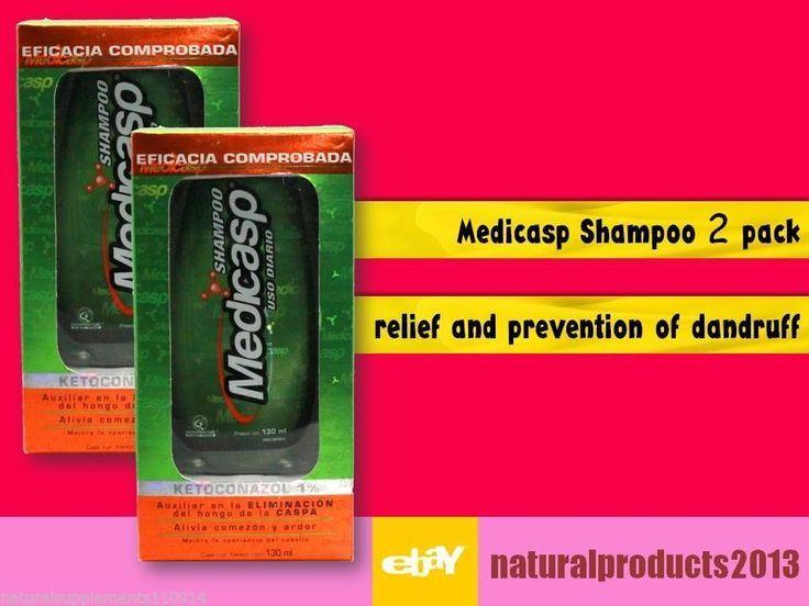 Medicasp shampoo Anti Dandruff  Ketoconazole 1% best Fungus Treatment  2 pack #medicasp