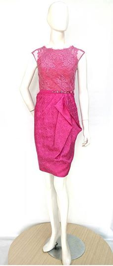 Michelle Dress in Fuchsia. Sophisticated and chic . Inquire us for other color combinations.  For pricing, sizing, and ordering details please email us at nmayinda@gmail.com, Whatsapp us at 081299331039, or BB us at 2B07B968.