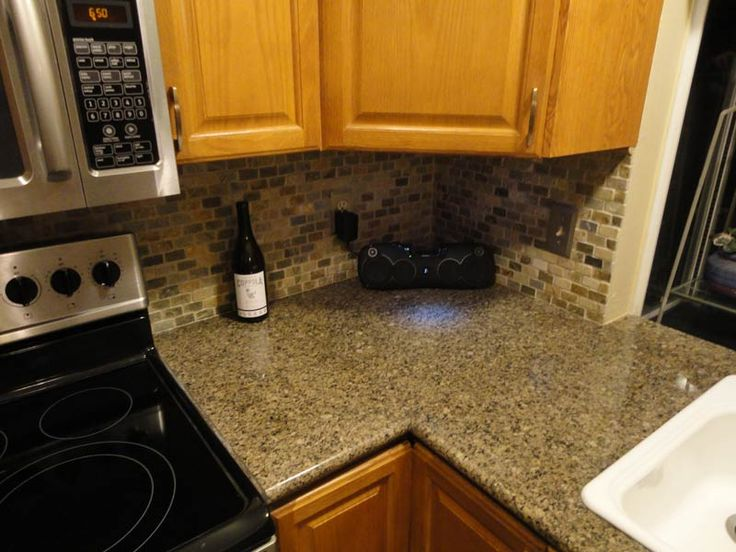 Countertop 24 X 48 : Countertop Corner Finished with Antique Brrown 24 x 24 Tile and Mitre ...
