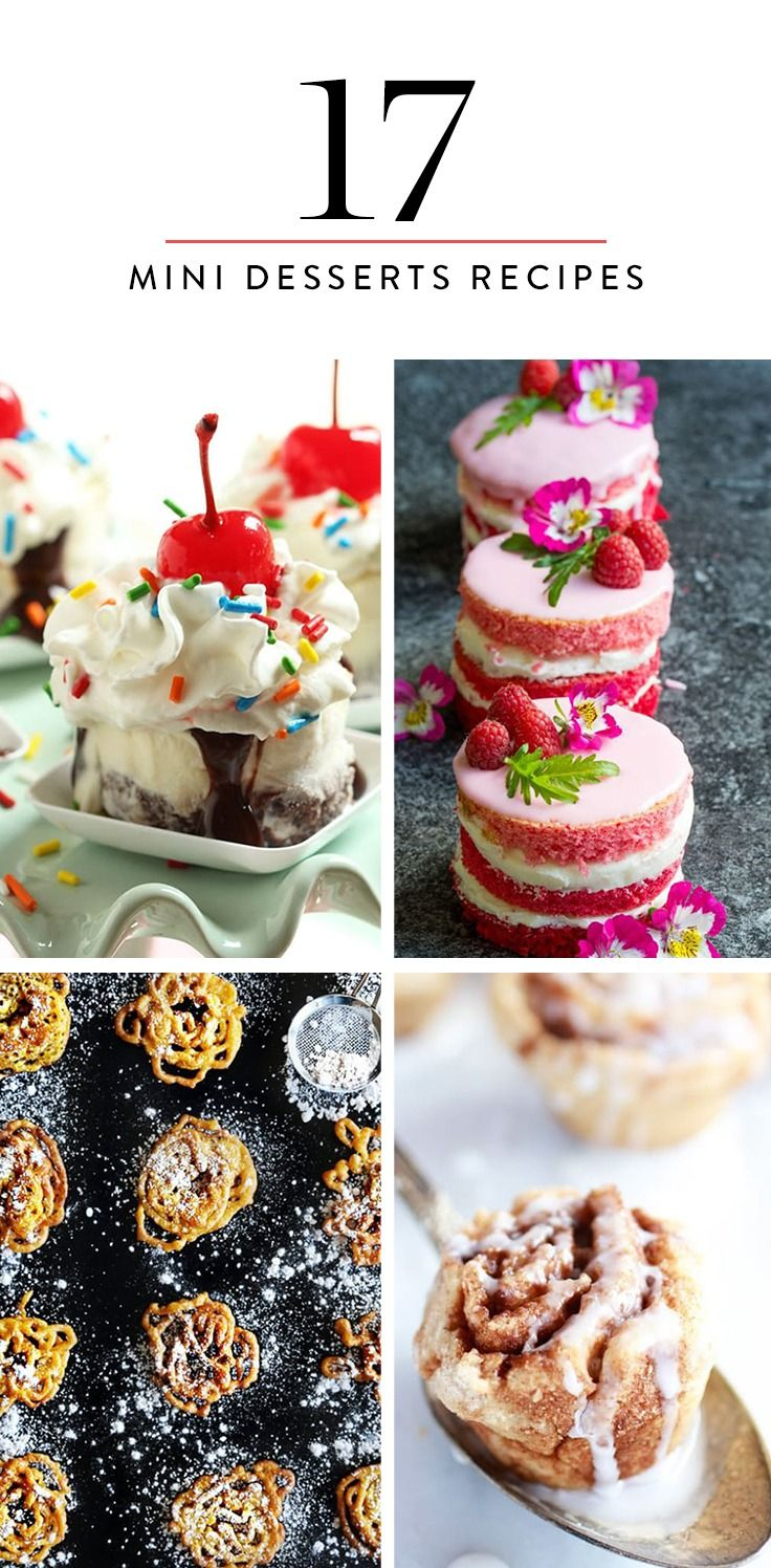 Here are 19 of our favorite itty-bitty dessert recipes of all time.