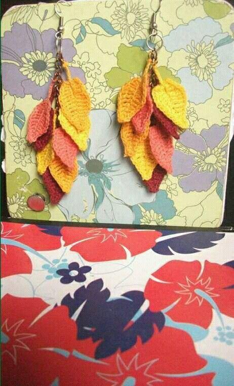 Autumn lefs crochet earrings                                                                                                                                                                                 More