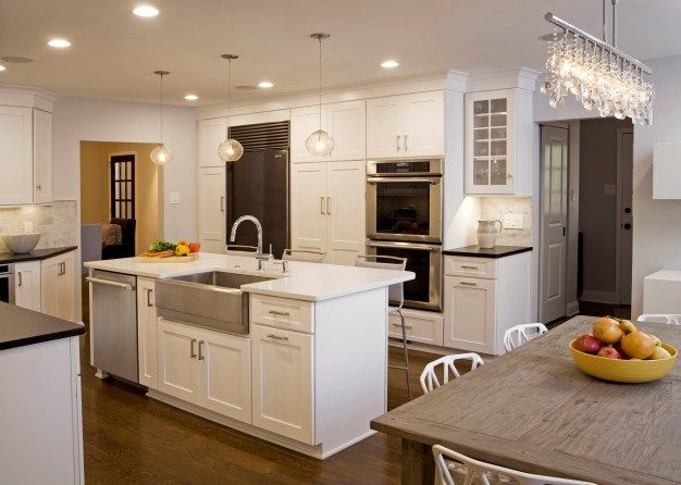 Steel Did You Know That Stainless Steel Sinks Can Come In Differen Kitchen Island With Sink And Dishwasher Kitchen Island With Sink Transitional Kitchen Design