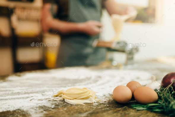 Ingredients For Cooking Homemade Pasta Fettuccine By Nomadsoul1