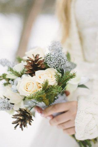 Новогодняя свадьба, букет невесты - The-wedding.ru