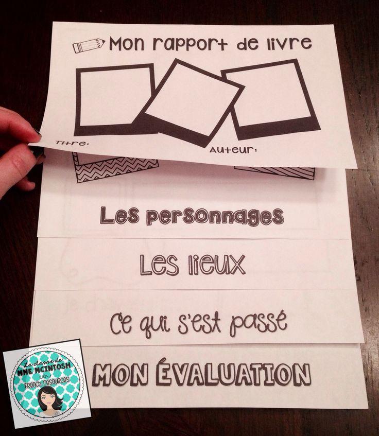 FRENCH book report Flip Book. How fun!