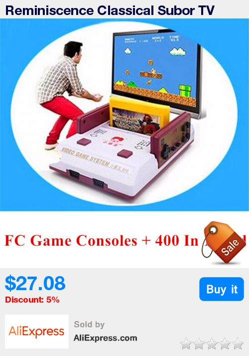 Reminiscence Classical Subor TV Game Player D99 Family Interaction Game Consoles Contra Gaming Console + 400 in 1 Game card  * Pub Date: 03:32 Jul 9 2017