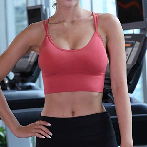 US Women/'s Gym Sports Yoga Bra Vest Fitness Workout Activewear Cropped Tank Tops