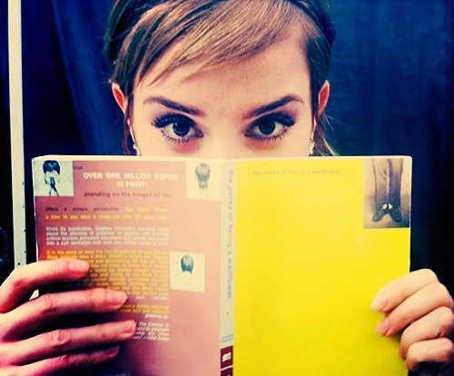 I LOVE HER and I cannot wait for this movie. #perksofbeingawallflower #emmawatson: Worth Reading, Books Worth, Emma Reading, Emma Watson, Emmawatson, Logan Lerman, Movie, Wallflower, Beautiful People
