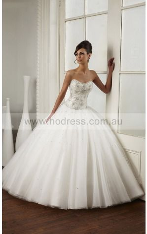 Buttons Chapel Train Ball Gown Natural Strapless Wedding Dresses gycf1001--Hodress