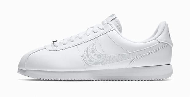 best website 4514c 21865 Bandana Fever Silver Bandana Print Custom White Nike Cortez Shoes  la   sneakers  losangeles  bandanafever  bandanafashion  streetfashion  bandoez  ...