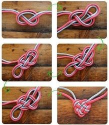 heart knots this would be cute to do with Emma... make Matching heart knot bracelets???