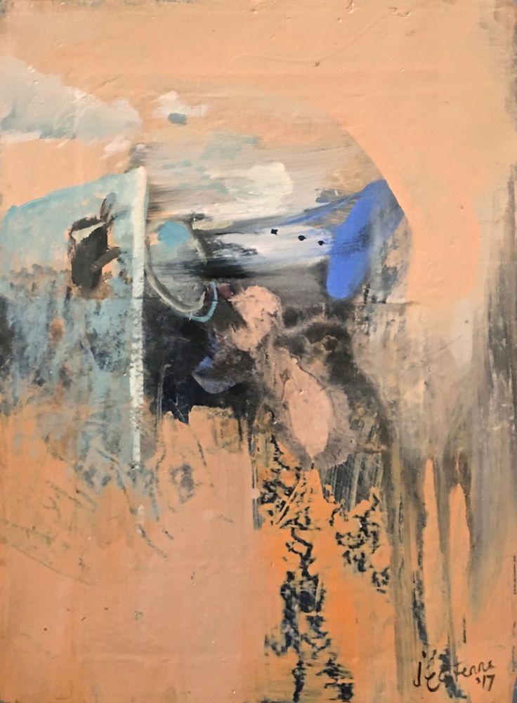 Elaine d'Esterre - Through Reflection at Mungo, 2017, oil on gesso, 30x24 cm.