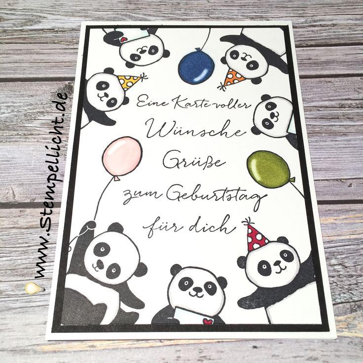Party Pandas - SAB - Stampin´Up! - Glückwunschkarte