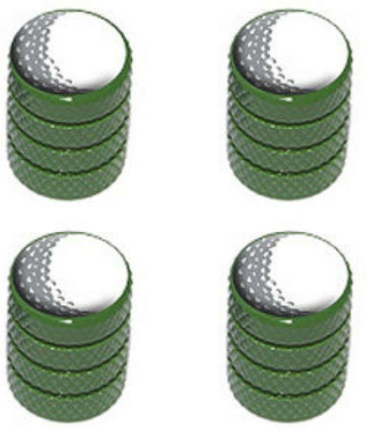 "Amazon.com : (4 Count) Cool and Custom ""Diamond Etching Golf Ball Top with Easy Grip Texture"" Tire Wheel Rim Air Valve Stem Dust Cap Seal Made of Genuine Anodized Aluminum Metal {Army Jeep Green and White Colors - Hard Metal Internal Threads for Easy Application - Rust Proof - Fits For Most Cars, Trucks, SUV, RV, ATV, UTV, Motorcycle, Bicycles} : Sports & Outdoors"