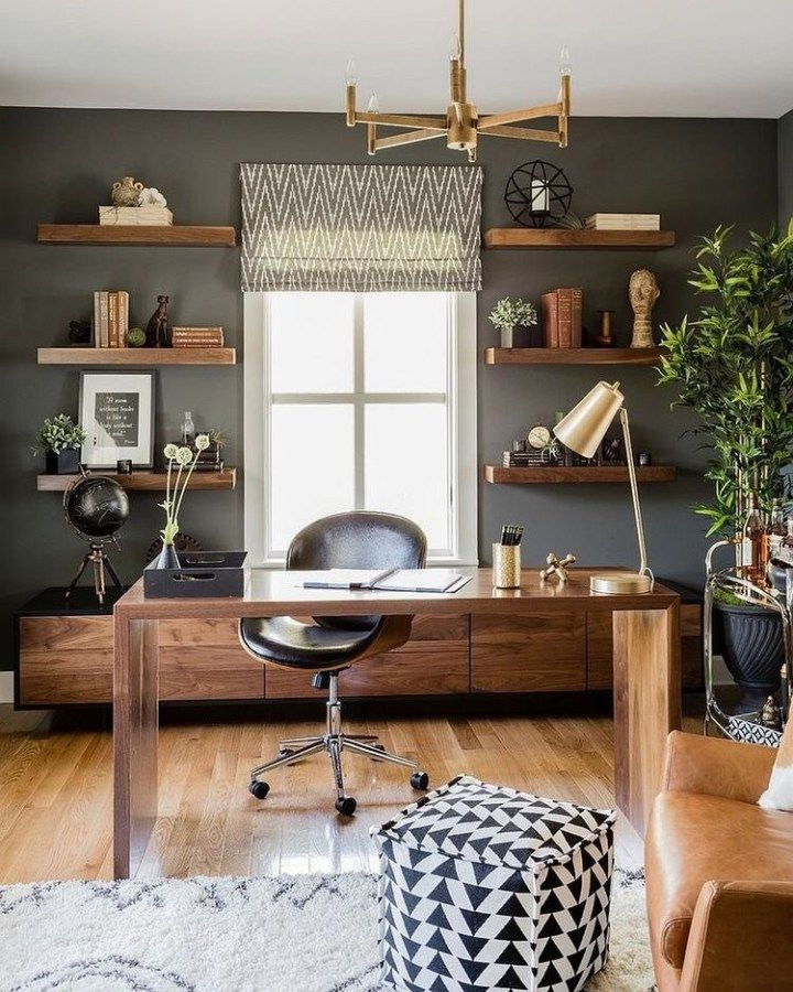 33 Chic Home Office Ideas – Captain Decor #Home/Decorating