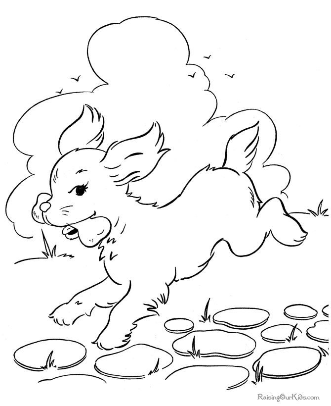 Free Dog Coloring Pages 003