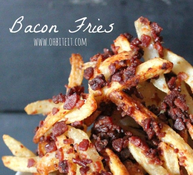 Crispy, Crunchy Bacony Fries!