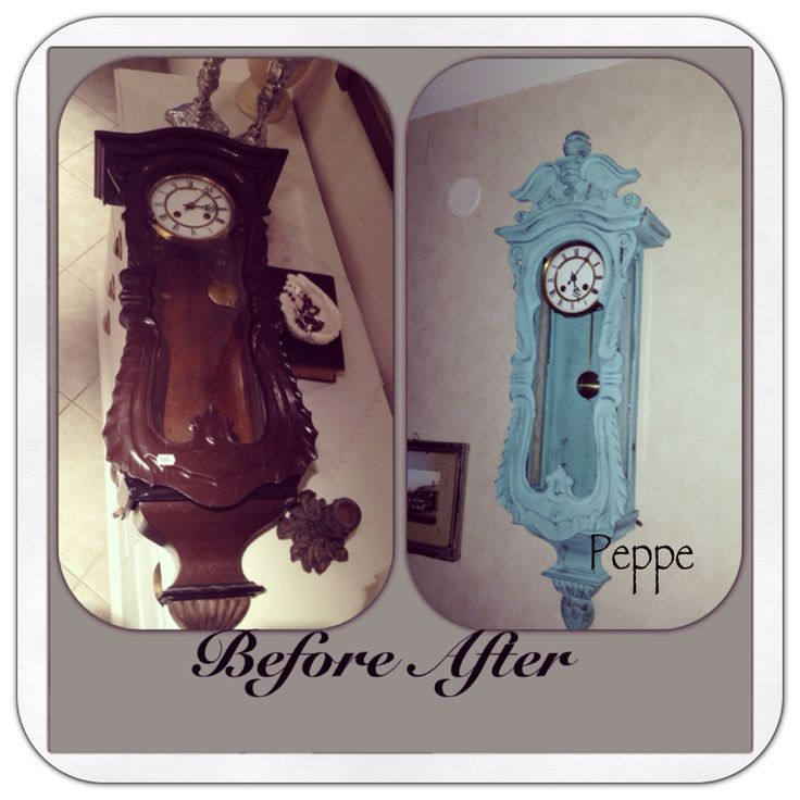 Old clock new style with Annie Sloan Chalk Paint Provence Graphite