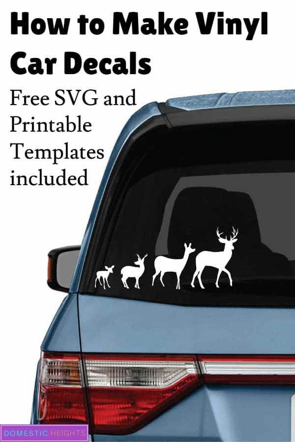 How To Make Car Decals Domestic Heights Car Decals Cricut Projects Vinyl Vinyl For Cars