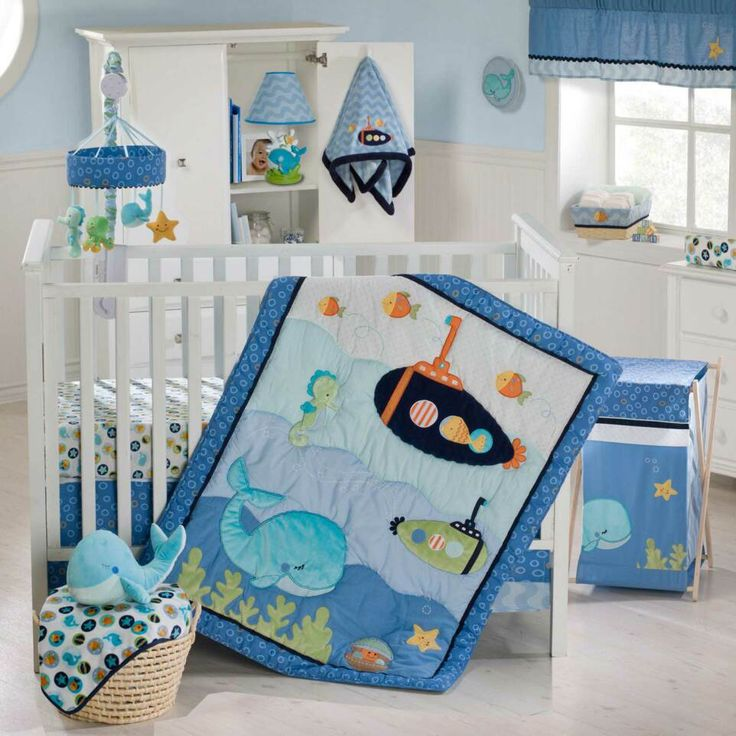 Image from http://www.homipix.com/wp-content/uploads/2015/02/kids-room-white-wooden-cradle-with-blue-submarine-blanket-plus-white-wooden-closet-with-blue-table-lamp-on-ceramics-flooring-awesome-schemes-of-baby-boy-ideas-for-nursery-showing-cozy-looks.jpg.