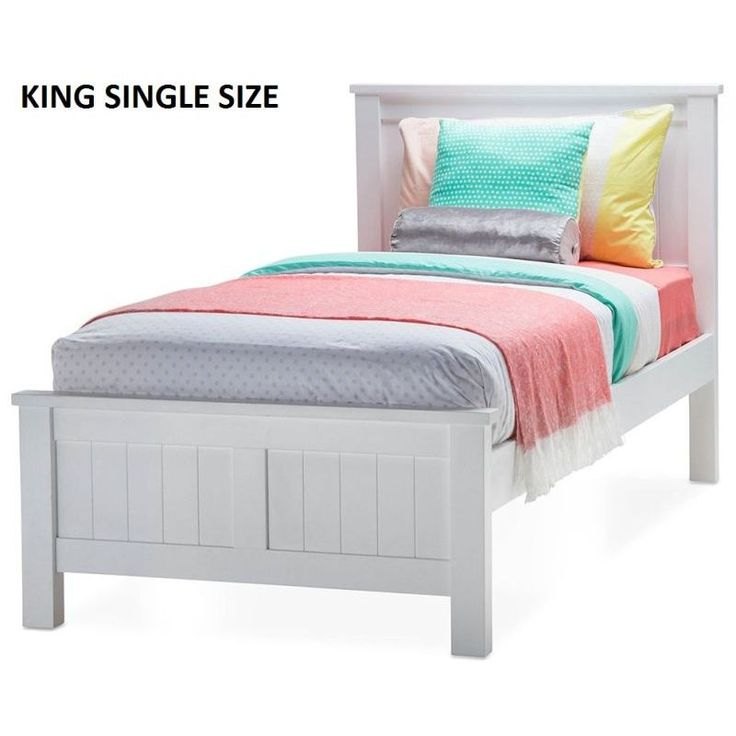 Snow King Single Size Wooden Bed Frame In White Ping