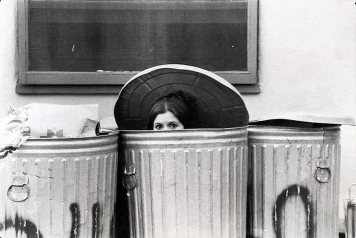 Poe Dameron You're Alive — greenchimneys:  Carrie Fisherhiding in the trash...