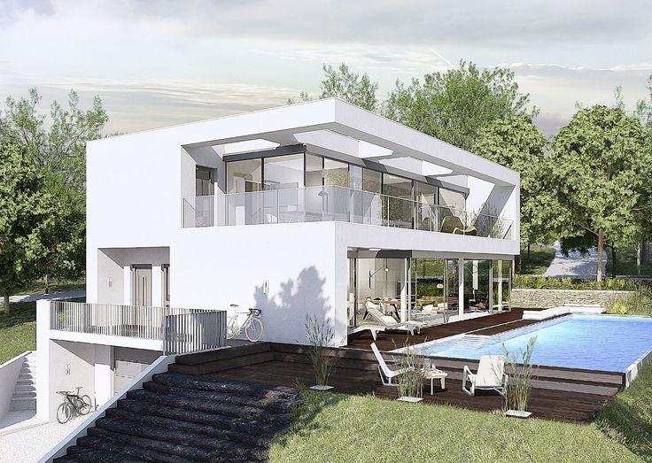 Ein weiteres Haus, welches im Kundenauftrag von OKAL Haus geplant und gebaut wurde. Besonders geeignet für die Hangbebauung.